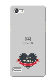 Oppo A33 Just Married Mobile Cover Design