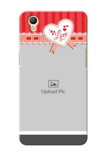 Oppo A37 Red Pattern Mobile Cover Design