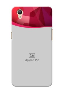 Oppo A37 Red Abstract Mobile Case Design
