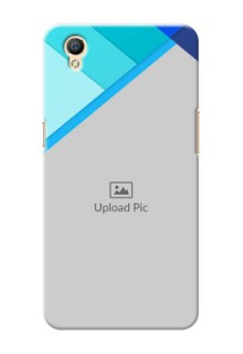Oppo A37 Blue Abstract Mobile Cover Design