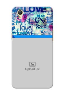 Oppo A37F Colourful Love Patterns Mobile Case Design