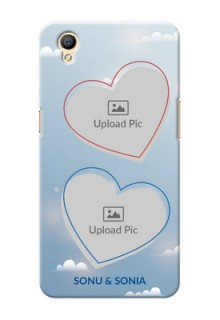 Oppo A37F couple heart frames with sky backdrop Design
