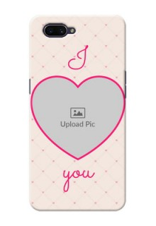 OPPO A3s Personalized Mobile Covers: Heart Shape Design