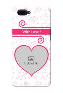 OPPO A3s Personalized Phone Cases: Heart Shape Love Design