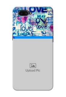 OPPO A3s Mobile Covers Online: Colorful Love Design