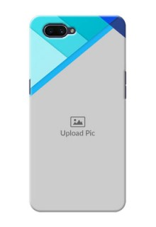 OPPO A3s Phone Cases Online: Blue Abstract Cover Design