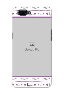 OPPO A3s Mobile Back Covers: Couples Heart Design