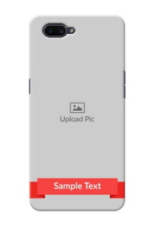 OPPO A3s Personalised mobile covers: Simple Red Color Design