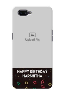 OPPO A3s custom mobile cases with confetti birthday design