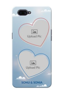 OPPO A3s Phone Cases: Blue Color Couple Design