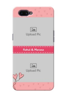 OPPO A3s phone back covers: Love Design Peach Color