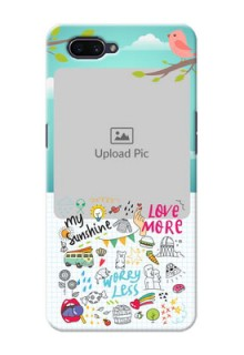 OPPO A3s phone cases online: Doodle love Design