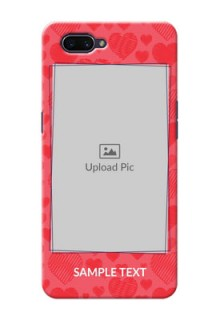 OPPO A3s Mobile Back Covers: with Red Heart Symbols Design
