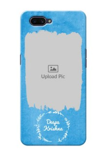 OPPO A3s custom mobile cases: Blue Color Vintage Design