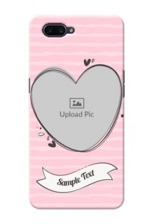 OPPO A3s custom mobile phone covers: Vintage Heart Design