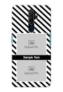 Oppo A5 2020 Back Covers: Black And White Stripes Design