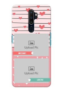 Oppo A5 2020 custom mobile covers: Photo with Heart Design