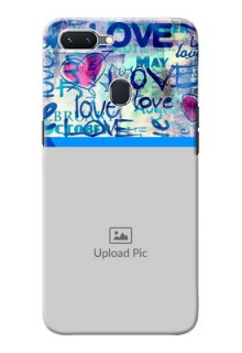 Oppo A5 Mobile Covers Online: Colorful Love Design