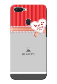 Oppo A5 phone cases online: Red Love Pattern Design