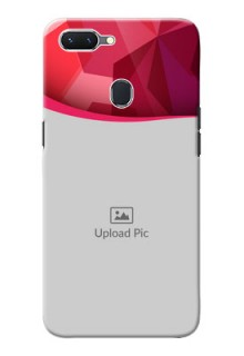 Oppo A5 custom mobile back covers: Red Abstract Design