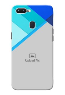 Oppo A5 Phone Cases Online: Blue Abstract Cover Design