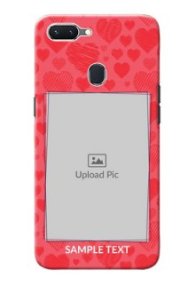 Oppo A5 Mobile Back Covers: with Red Heart Symbols Design
