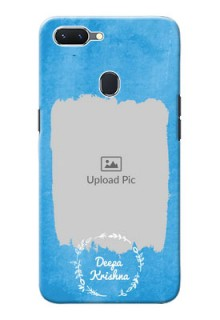 Oppo A5 custom mobile cases: Blue Color Vintage Design