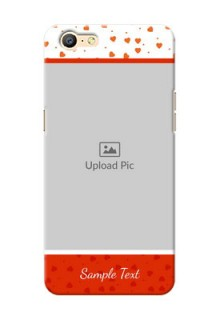 Oppo A57 Orange Love Symbol Mobile Cover Design