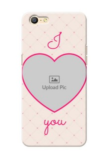 Oppo A57 Love Symbol Picture Upload Mobile Case Design