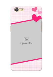 Oppo A57 Pink Design With Pattern Mobile Cover Design