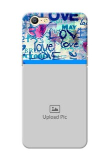 Oppo A57 Colourful Love Patterns Mobile Case Design