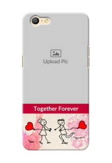 Oppo A57 Just You And Me Mobile Back Case Design