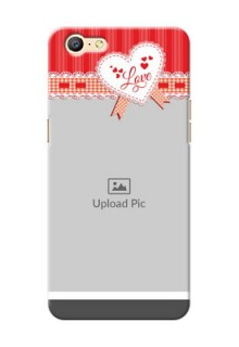 Oppo A57 Red Pattern Mobile Cover Design