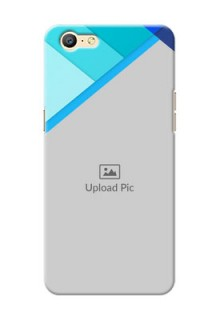 Oppo A57 Blue Abstract Mobile Cover Design