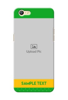 Oppo A57 Green And Yellow Pattern Mobile Cover Design