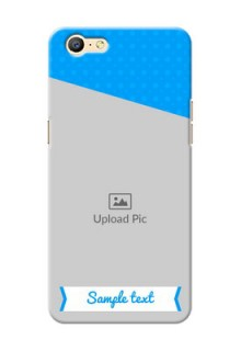 Oppo A57 Premium Blue Colour Mobile Back Case Design