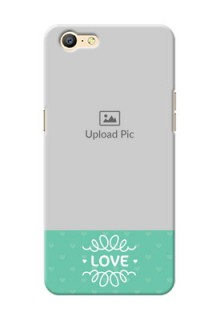 Oppo A57 Lovers Picture Upload Mobile Cover Design