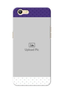 Oppo A57 Violet Pattern Mobile Cover Design