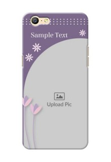 Oppo A57 lavender background with flower sprinkles Design