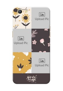 Oppo A57 3 image holder with florals Design
