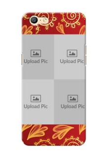 Oppo A57 4 image holder with mandala traditional background Design