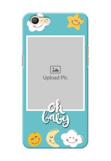 Oppo A57 kids frame with smileys and stars Design Design
