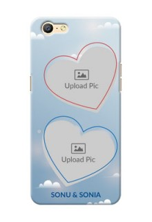 Oppo A57 couple heart frames with sky backdrop Design