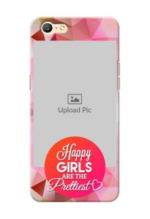 Oppo A57 abstract traingle design with girls quote Design
