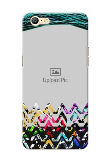 Oppo A57 neon background with abstract design Design Design