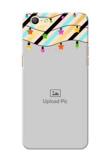 Oppo A57 diagonal stripped pattern with hanging lights Design