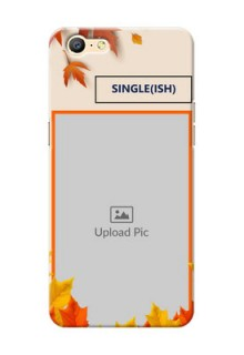Oppo A57 autumn maple leaves backdrop Design