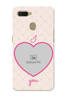 Oppo A5s Personalized Mobile Covers: Heart Shape Design