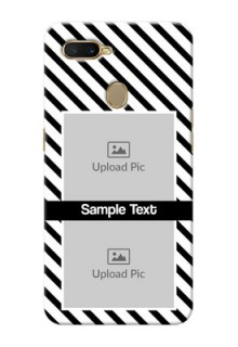 Oppo A5s Back Covers: Black And White Stripes Design