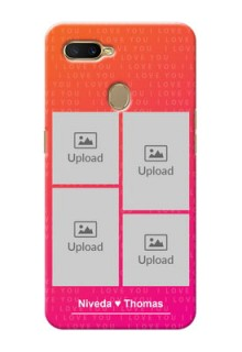 Oppo A5s custom back covers: I Love You Pink Design